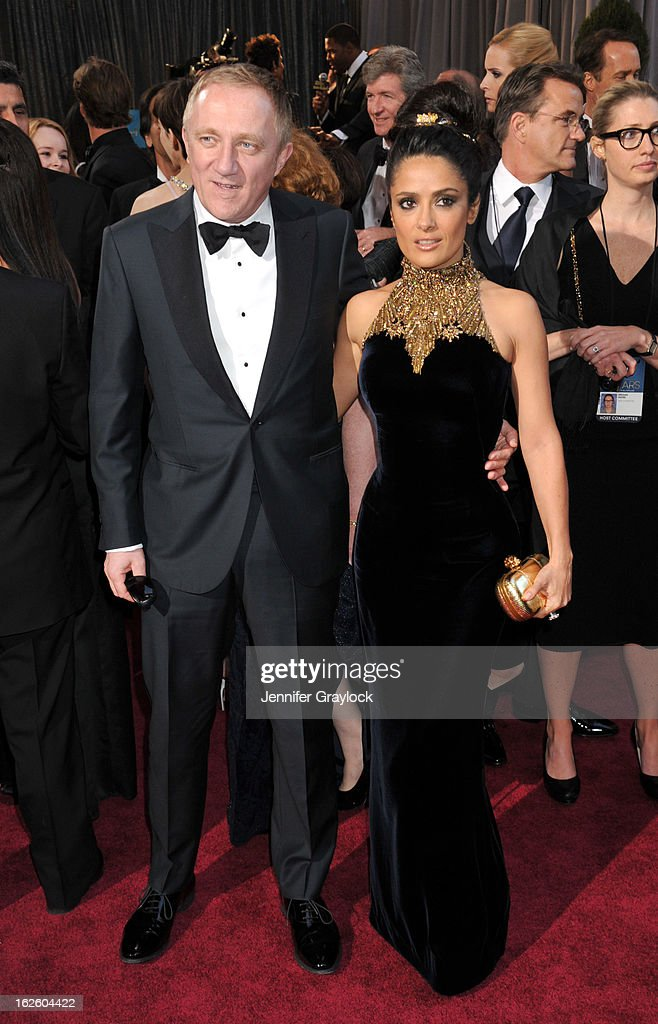 Francois-Henri Pinault and actress Salma Hayek attends the 85th Annual Academy Awards held at the Hollywood & Highland Center on February 24, 2013 in Hollywood, California.