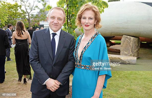 FrancoisHenri Pinault and CoDirector of the Serpentine Gallery Julia Peyton Jones attends The Serpentine Gallery Summer Party cohosted by Brioni at...