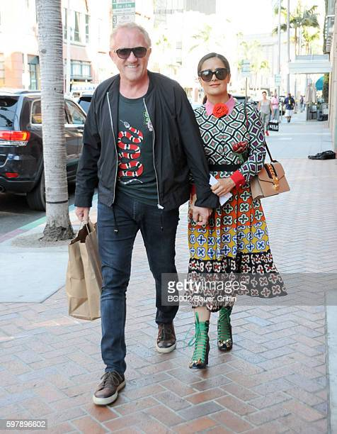 FrancoisHenri Pinault and Salma Hayek are seen on August 29 2016 in Los Angeles California