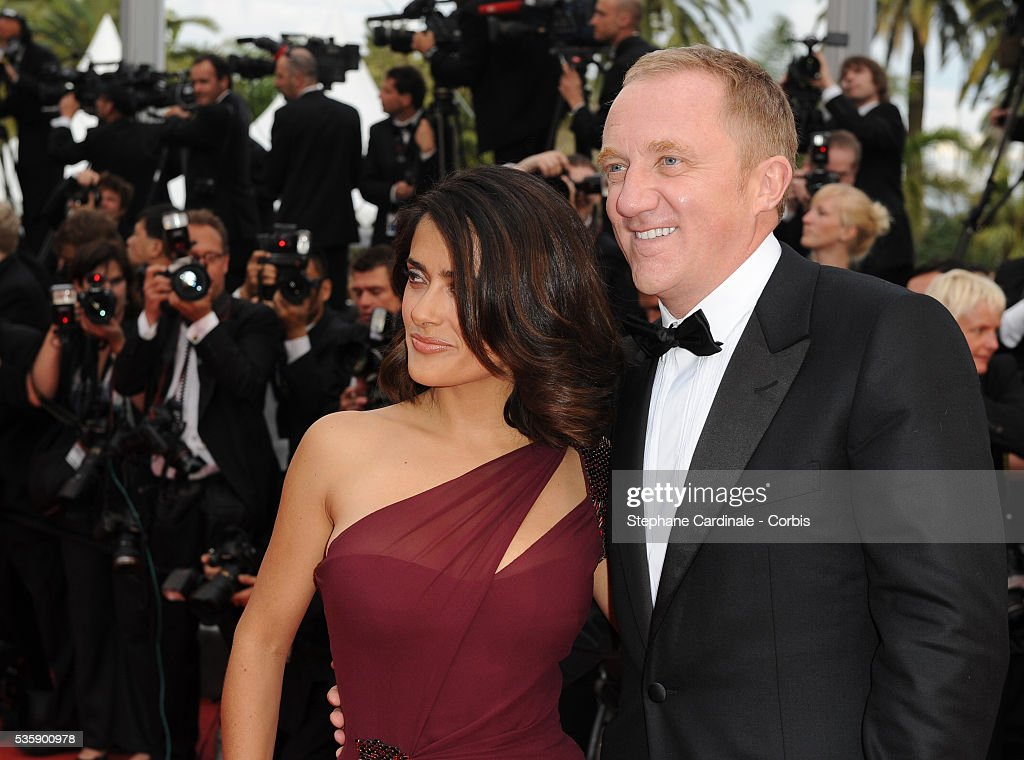 Francois-Henri Pinault and Salma Hayek at the premiere of ?Robin Hood? during the 63rd Cannes International Film Festival.