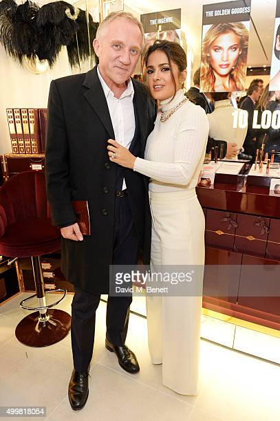 FrancoisHenri Pinault and Salma Hayek attend Charlotte Tilbury's naughty Christmas party celebrating the launch of Charlotte's new flagship beauty...