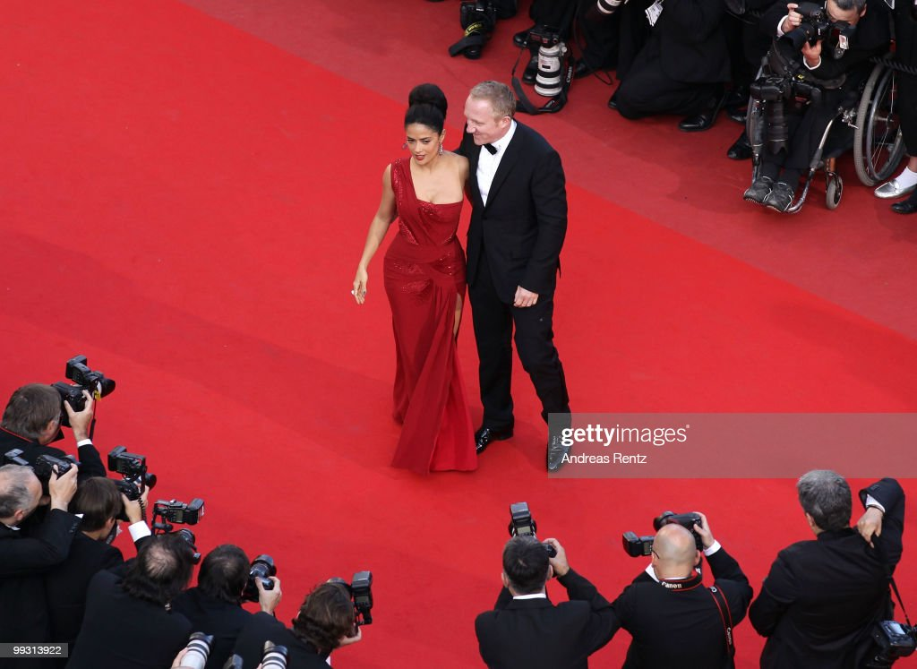 <a gi-track='captionPersonalityLinkClicked' href=/galleries/search?phrase=Francois-Henri+Pinault&family=editorial&specificpeople=532174 ng-click='$event.stopPropagation()'>Francois-Henri Pinault</a> and <a gi-track='captionPersonalityLinkClicked' href=/galleries/search?phrase=Salma+Hayek&family=editorial&specificpeople=201844 ng-click='$event.stopPropagation()'>Salma Hayek</a> attend the 'IL Gattopardo' Premiere at the Palais des Festivals during the 63rd Annual Cannes Film Festival on May 14, 2010 in Cannes, France.