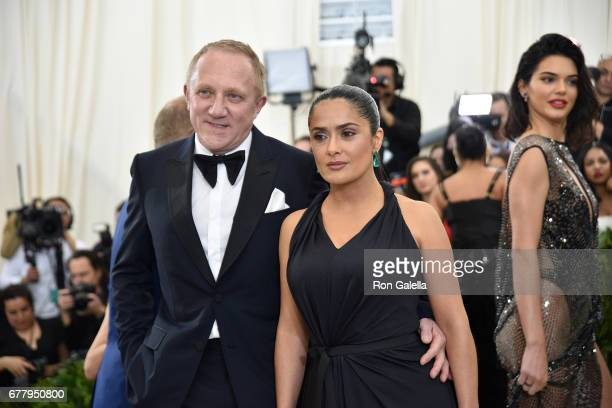 FrancoisHenri Pinault and Selma Hayek at Metropolitan Museum of Art on May 1 2017 in New York City