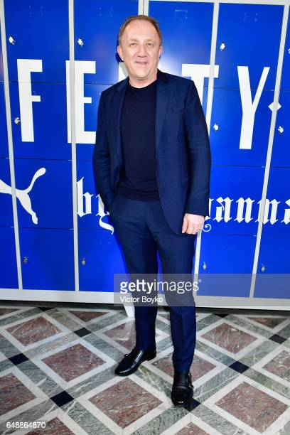 FrancoisHenri Pinault attends FENTY PUMA by Rihanna Fall / Winter 2017 Collection at Bibliotheque Nationale de France on March 6 2017 in Paris France