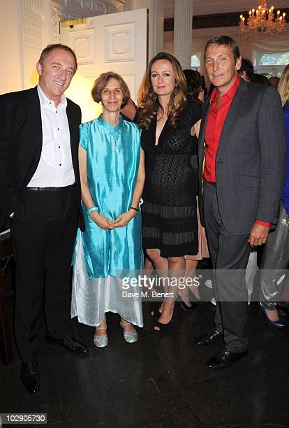 FrancoisHenri Pinault Dr Holly Dublin Lucy Yeomans and Jochen Zeitz attend a fundraising dinner for The Zeitz Foundation on July 14 2010 in London...