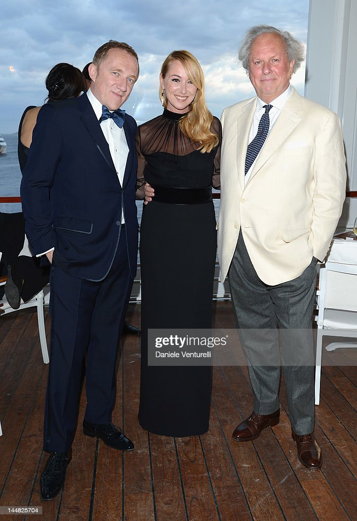 Francois-Henri Pinault, GUCCI Creative Director Frida Giannini and Editor of Vanity Fair Graydon Carter attend the Vanity Fair and Gucci Party at Hotel Du Cap during 65th Annual Cannes Film Festival on May 19, 2012 in Antibes, France.