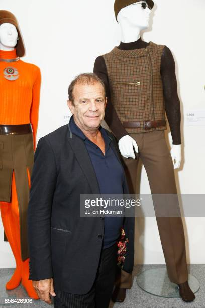 FrancoisMarie Banier is pictured in front of the clothes that he was wearing when he was a model for Pierre Cardin during the 'Pierre Cardin' By...