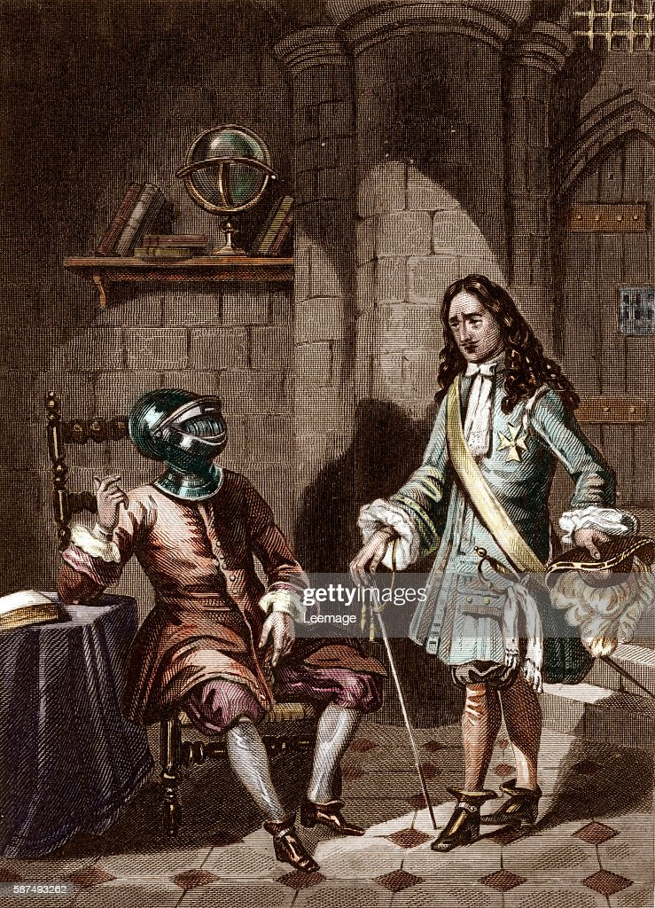 FrancoisMichel le Tellier Marquis de Louvois French Secretary of State for War visiting the man in the Iron mask in his prison on the island of...