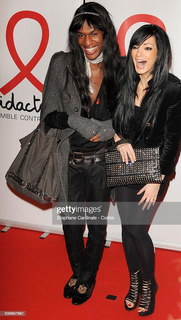 Francois-Xavier and Emilie (Secret Story) attend 'Sidaction 2010' press conference at Casino de Paris.