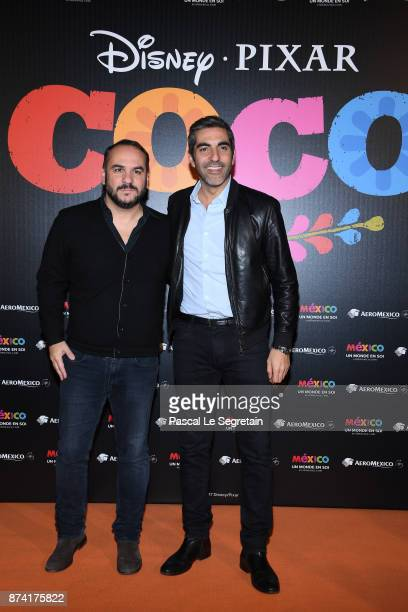 FrancoisXavier Demaison and Ary Abittan attend the 'Coco' Paris Special Screening at Le Grand Rex on November 14 2017 in Paris France
