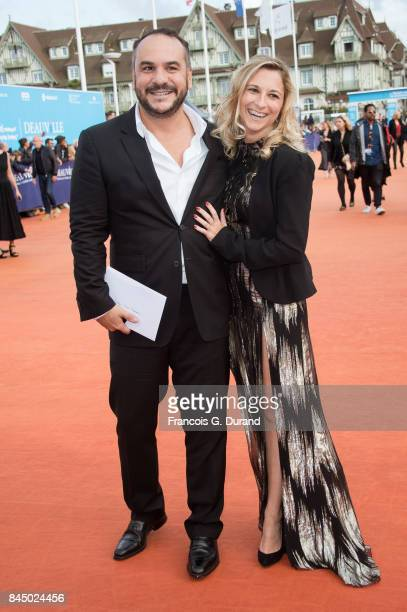 FrancoisXavier Demaison and guest arrive at the closing ceremony of the 43rd Deauville American Film Festival on September 9 2017 in Deauville France