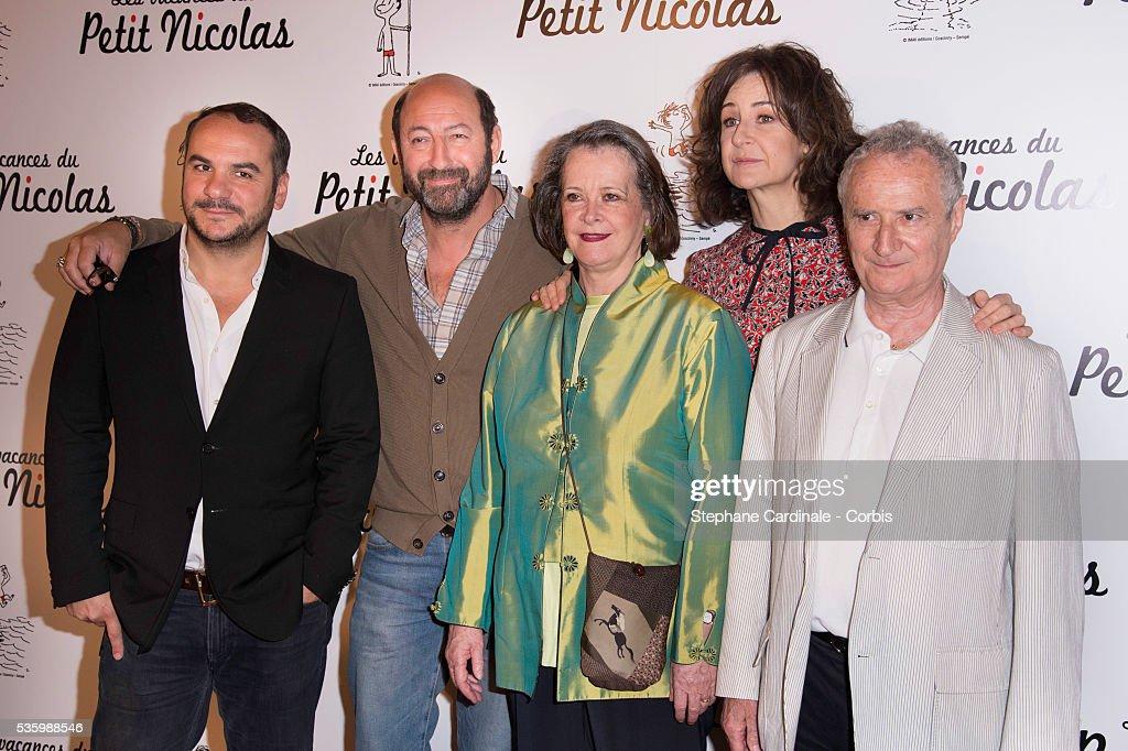 Francois-Xavier Demaison, Kad Merad, Dominique Lavanant, Valerie Lemercier and Daniel Prevost attend the 'les vacances du petit Nicolas' Premiere at Cinema Gaumont Capucine, in Paris.