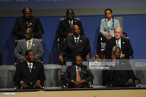 Francophonie summit In Quebec Canada On October 17 2008Blaise CompaoreEl Hadj Omar Bongo and Abdou Diouf