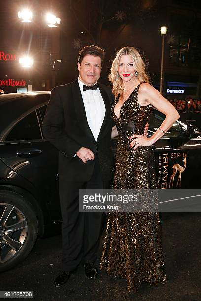 Franics FultonSmith and Verena Klein arrive at the Bambi Awards 2014 on November 13 2014 in Berlin Germany
