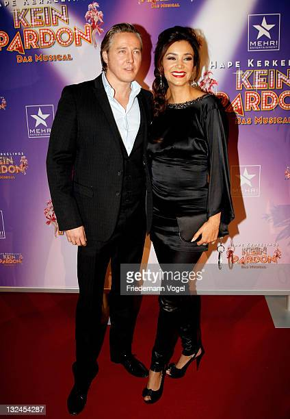 Franjo and Verona Poth pose during the World Premiere of the 'Kein Pardon' musical at the Capitol Theater on November 12 2011 in Duesseldorf Germany