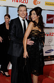 Franjo Pooth and pregnant wife Verona Pooth attend the 46th Golden Camera awards at the Axel Springer Haus on February 5 2011 in Berlin Germany