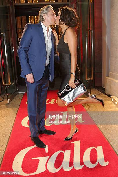 Franjo Pooth and Verona Pooth attend the Berlin Opening Night Of Gala Ufa Fiction during the 64th Berlinale International Film Festival at Hotel Das...