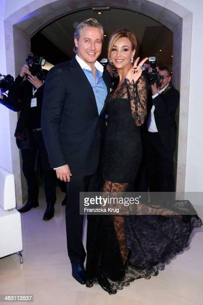 Franjo Pooth and Verona Pooth attend the Felix Burda Award 2014 at Hotel Adlon on April 06 2014 in Berlin Germany
