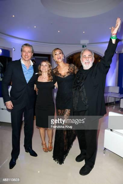 Franjo Pooth Katharine Merlin Verona Pooth and Udo Walz attend the Felix Burda Award 2014 at Hotel Adlon on April 06 2014 in Berlin Germany