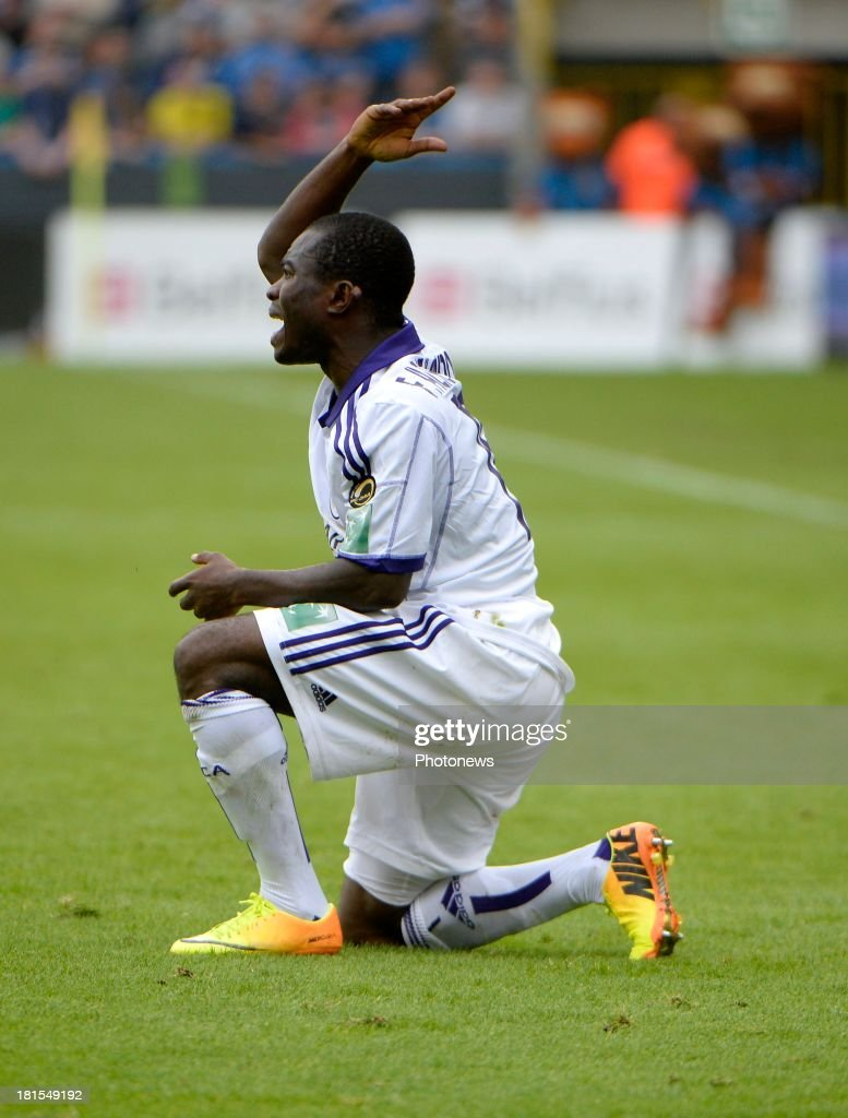 Frank Acheampong of RSC Anderlecht pictured during the Jupiler League match between Club Brugge and RSC Anderlecht on September 22 2013 in the Jan...