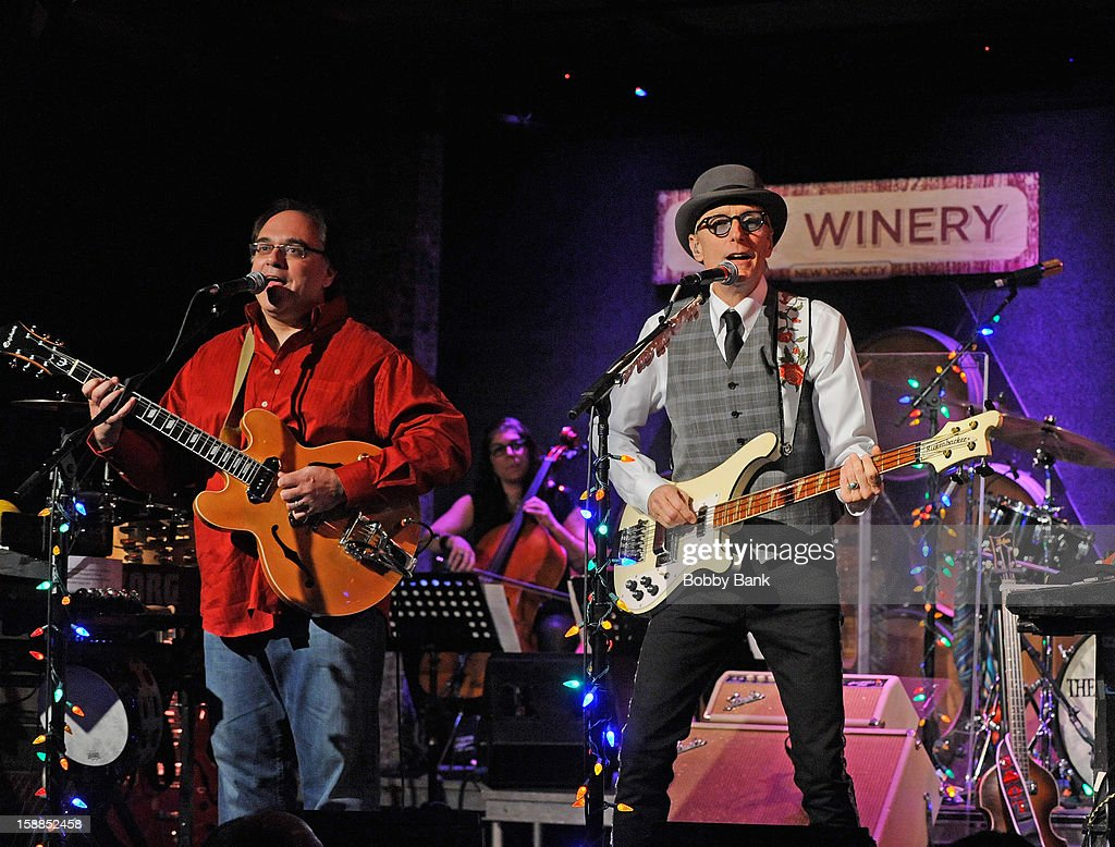 Frank Agnello and Will Lee of Fab Faux perform at City Winery on December 31, 2012 in New York City.