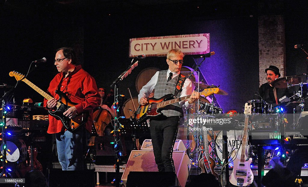 Frank Agnello, Rich Pagano and Will Lee of Fab Faux perform at City Winery on December 31, 2012 in New York City.