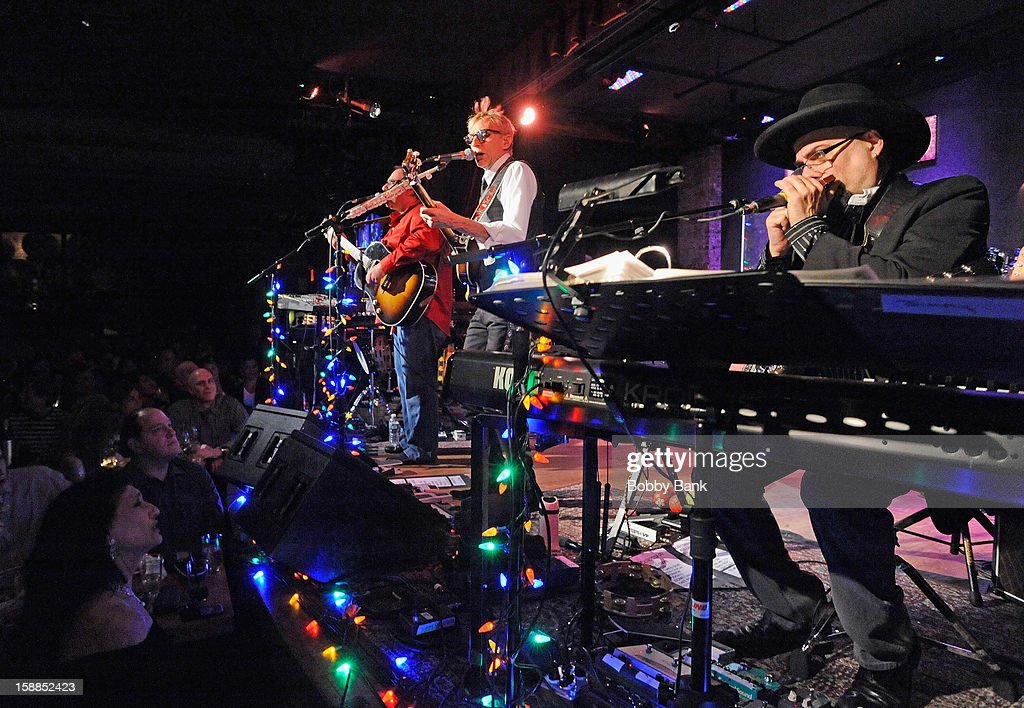 Frank Agnello, Rich Pagano, Will Lee, Jimmy Vivino and Jack Petruzzelli of Fab Faux perform at City Winery on December 31, 2012 in New York City.