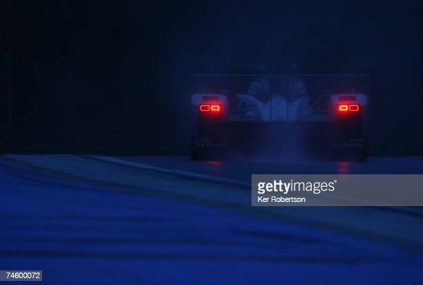 Frank Biela of Germany and Audi Sport drives during the first qualifying session for the Le Mans 24 Hour race at the Circuit des 24 Heures du Mans on...