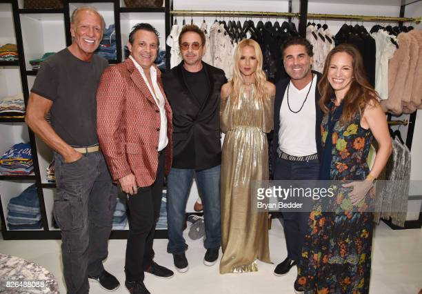 Frank Bober Seth Weisser Robert Downey Jr Rachel Zoe Gerard Maione and Susan Downey attend the Rachel Zoe x What Goes Around Comes Around popin on...