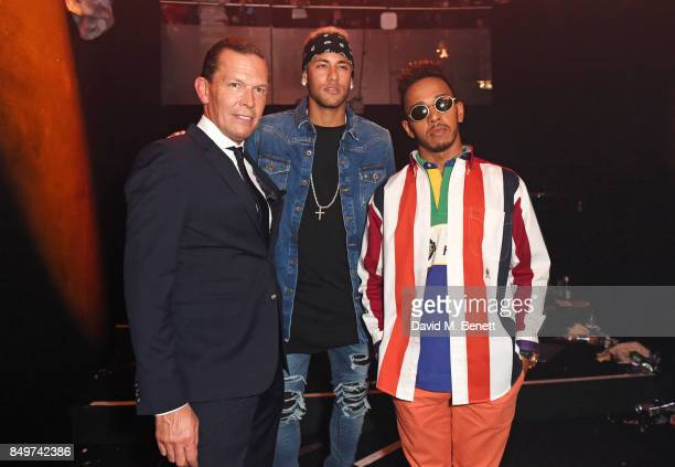 Frank Cancelloni Neymar and Lewis Hamilton attend the Tommy Hilfiger TOMMYNOW Fall 2017 Show during London Fashion Week September 2017 at The...