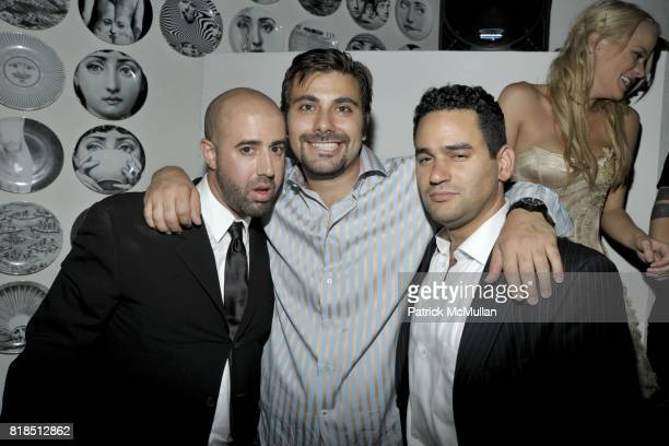 Frank Cascio Frank Barbagallo and Michael Piccoli attend Eric Lerner Frank Cascio Celebrate their birthdays with Host Sean Parker and CoHosts Denise...