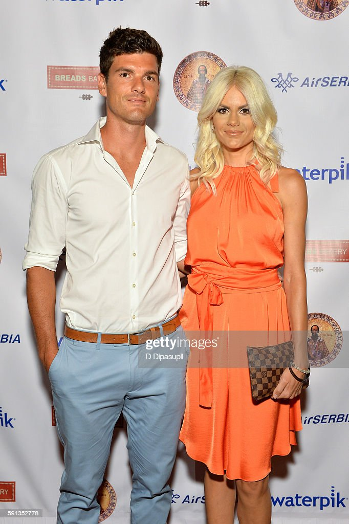 Frank Dancevic and Nikolina Bojic Dancevic attend the Save Saint Sava Benefit at the New York Athletic Club on August 22 2016 in New York City