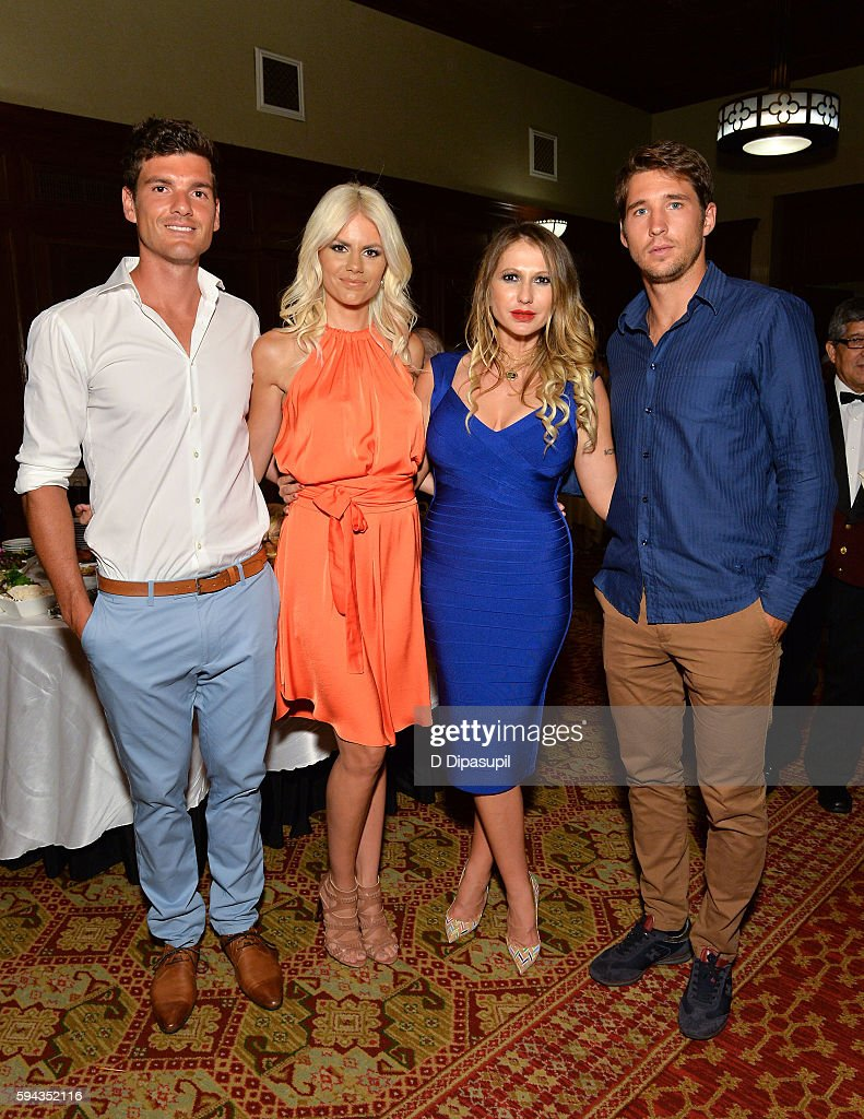 Frank Dancevic Nikolina Bojic Dancevic Mirjana Sladic and Dusan Lajovic attend the Save Saint Sava Benefit at the New York Athletic Club on August 22...