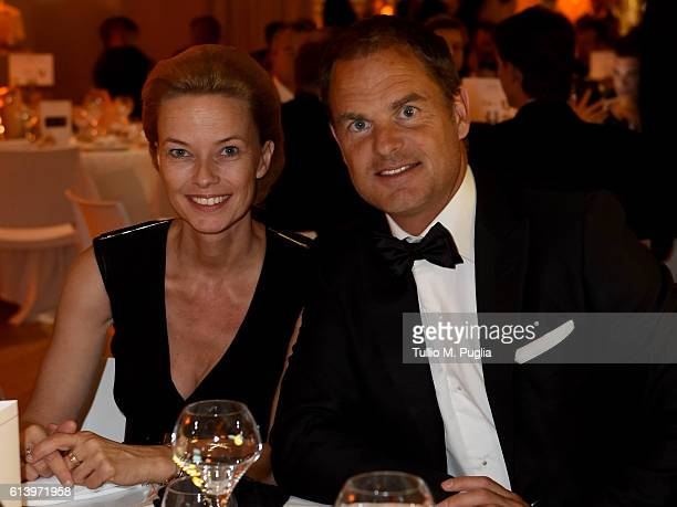 Frank de Boer and wife Helen attend the Golden Foot Award gala dinner on October 11 2016 in Monaco Monaco