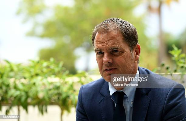 Frank de Boer attends a press conference during the Golden Foot 2016 Award Ceremony on October 11 2016 in Monaco Monaco
