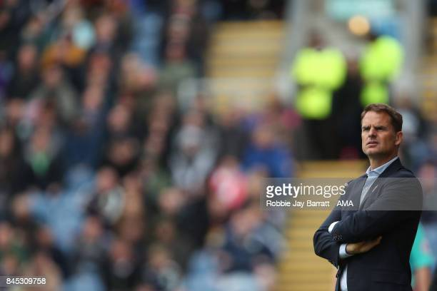 Frank de Boer head coach / manager of Crystal Palace during the Premier League match between Burnley and Crystal Palace at Turf Moor on September 10...