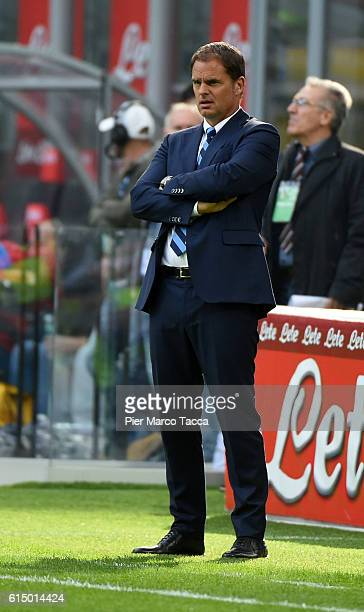 Frank de Boer head coach of FC Internazionale looks during the Serie A match between FC Internazionale and Cagliari Calcio at Stadio Giuseppe Meazza...