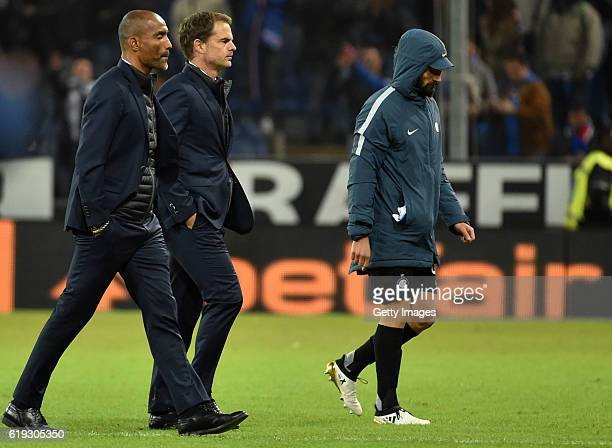 Frank De Boer head coach of Internazionale go out at the end of the Serie A match between UC Sampdoria and FC Internazionale at Stadio Luigi Ferraris...