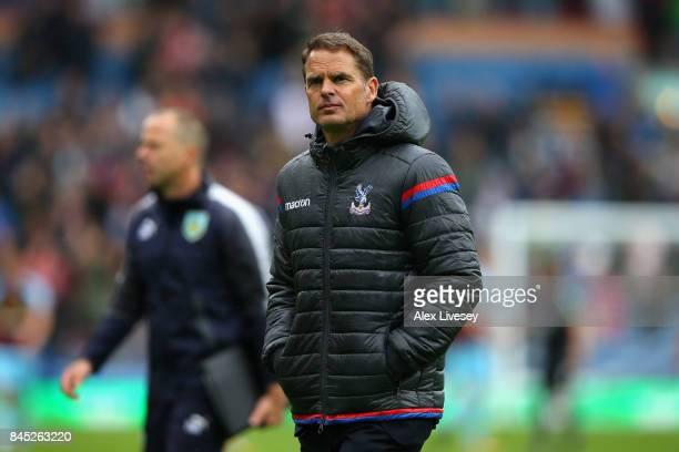 Frank de Boer Manager of Crystal Palace looks dejected following defeat in the Premier League match between Burnley and Crystal Palace at Turf Moor...