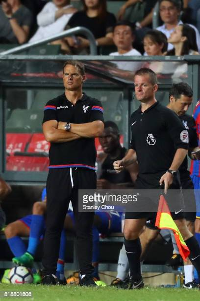 Frank de Boer Manager of Crystal Palace looks on during the Premier League Asia Trophy match between Liverpool and Crystal Palace at Hong Kong...