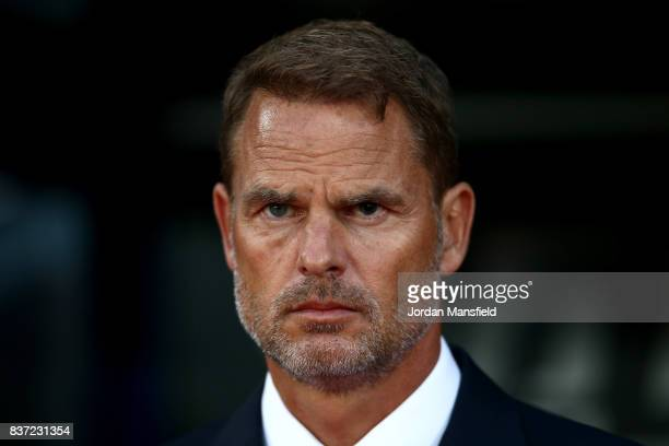 Frank de Boer Manager of Crystal Palace looks on prior to the Carabao Cup Second Round match between Crystal Palace and Ipswich Town at Selhurst Park...