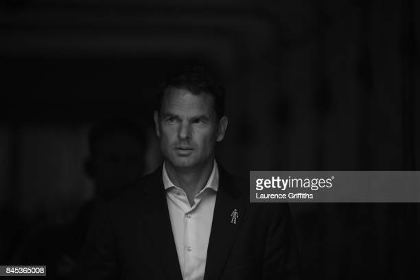 This image has been converted to black and white Frank De Boer of Crystal Palace looks on during the Premier League match between Burnley and Crystal...