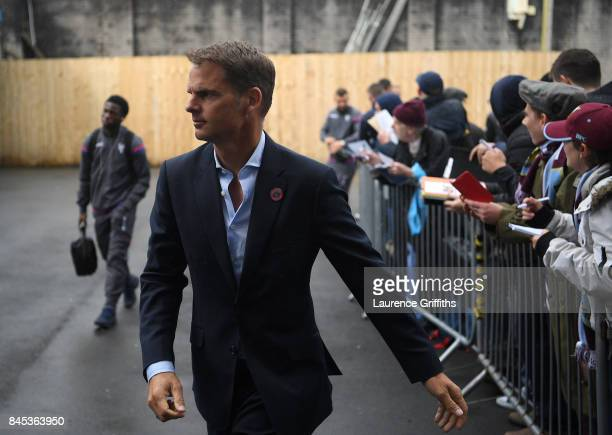 Frank De Boer of Crystal Palace signs autographs for the waiting fans during the Premier League match between Burnley and Crystal Palace at Turf Moor...
