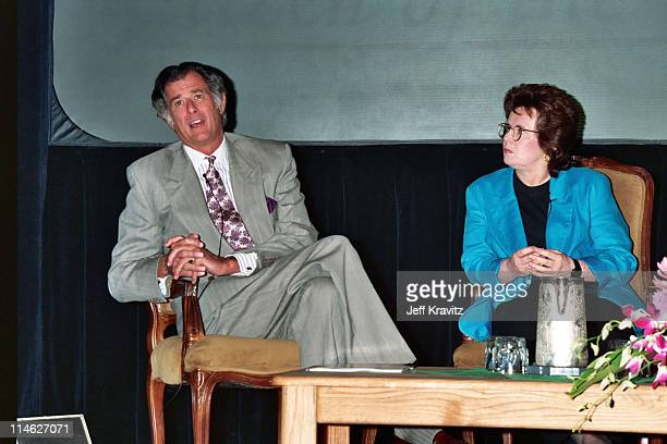 Frank DeFord and Billie Jean King during HBO's TCA 1994 at RItzCarlton in Pasadena CA United States
