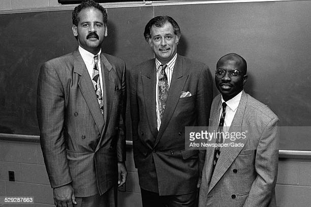 Frank Deford and small group of people Original Caption Reads 'From Left To Right Stedman GrahamManaging PartnerChicago Graham Williams Group Frank...