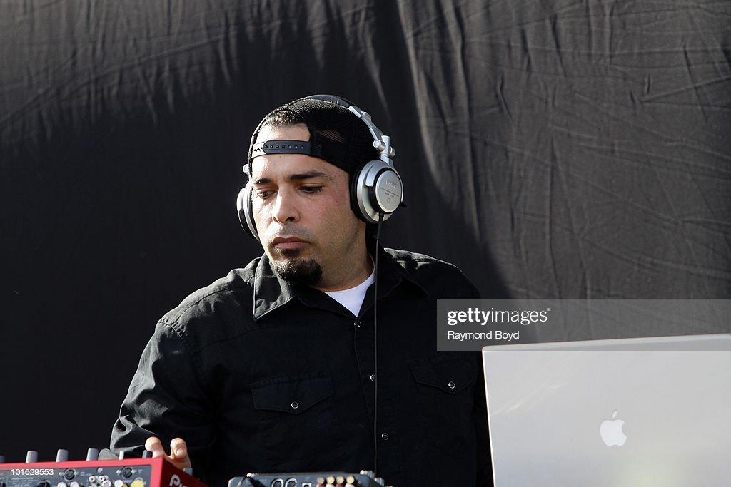 Frank Delgado of The Deftones performs at Columbus Cew Stadium in Columbus, Ohio on MAY