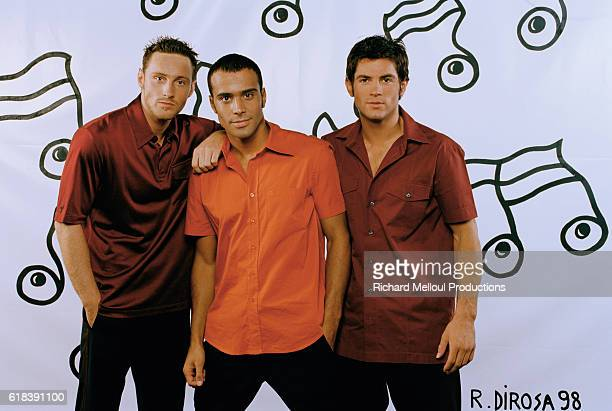 Frank Delhaye Adel Kachermi and Filip Nikolic are the members of the French pop band 2 Be 3