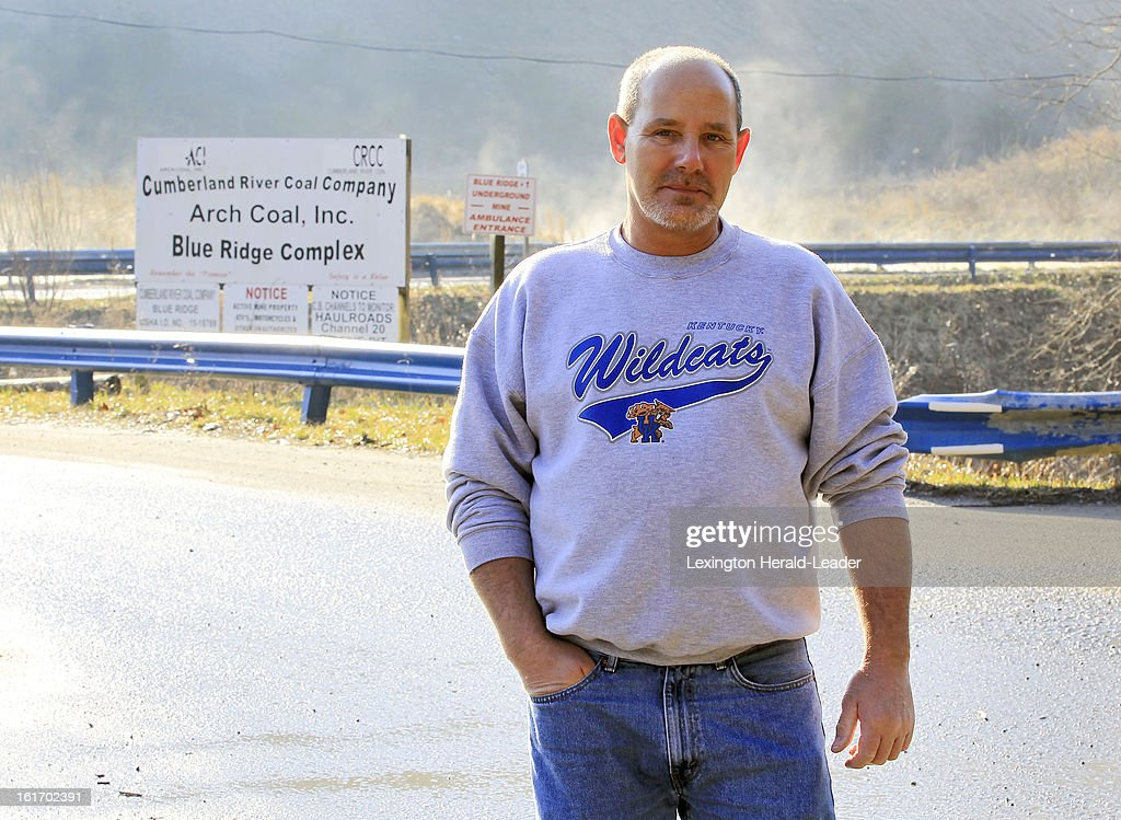 Frank Dixon stands at the entrance to the Cumberland River Coal Co. Blue Ridge Complex mine where he used to work in Letcher County, Kentucky, Thursday, February 14, 2013. While Dixon and thousands of others in the United States have lost their jobs, coal is booming in the rest of the world.