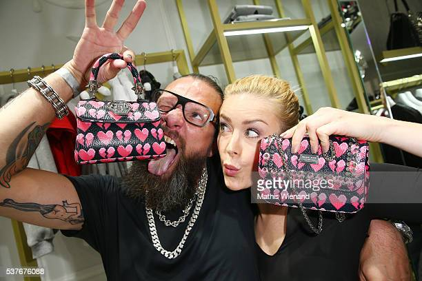 Frank Dursthoff and Nina Ensmann attend the Philipp Plein Store Event on June 2 2016 in Duesseldorf Germany