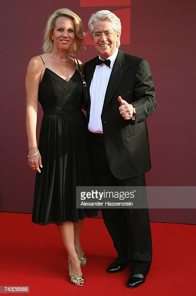 Frank Elstner arrives with his wife Britta Gessler for the 'Blauer Panther' Bavarian Television Award 2007 Ceremony at the Prinzregenten Theater on...